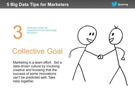 Marketing data tip #3 - have a collective goal