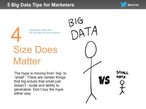 Marketing data tip #4 - size does matter
