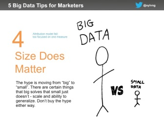 Marketing data tip #4 - size does matter